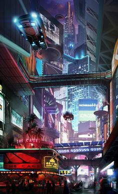 Another kick-ass piece, although I couldn't tell if this one is using any 3D. Still pretty awesome. -->Cityscape 3 by Hazzard65.deviantart.com