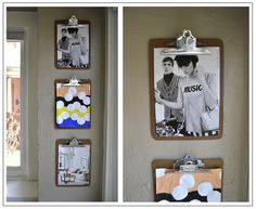 Love this idea from @Louisa Jane Goodwill Denver - use clipboards as holders of your children's artwork!