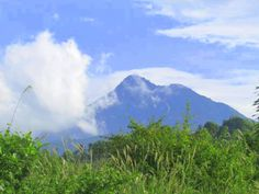 Mt. Kanlaon, an active volcano in the Island of Negros and is highest mountain in Visayas