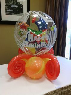 Birthday balloon centerpiece
