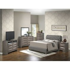 Glory Furniture Gemini Upholstered Panel Bed Size: Twin
