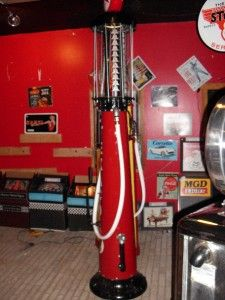 texico visable gas pump | restored texaco visible gas pump globe wayne 615