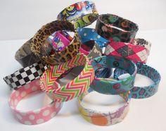 Duct Tape Bangle Bracelets