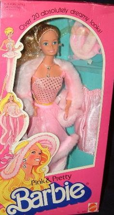 Pink & Pretty Barbie ~ She was probably my favorite.  You should see mine.  I have most of the original outfit & the doll has half her hair...LOL!