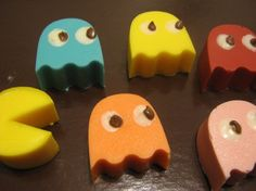 PacMan chocolate candies party favors 12 pieces by MandiesCandies, $8.00
