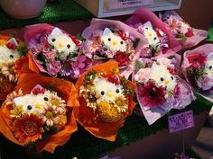 Hello kitty flowers!  They're not that hard to make, and you can sell 'em at a pretty high margin.  ;-)
