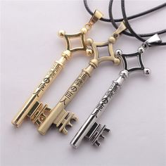 Attack On Titan Eren Jaegar Key Necklace