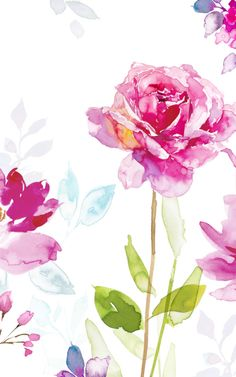 New ipad wallpaper watercolor flowers floral patterns ideas Of Wallpaper, Wallpaper Backgrounds, Floral Backgrounds, Watercolour Painting, Watercolor Flowers, Cute Wallpapers, Iphone Wallpapers, Flower Art, Planting Flowers