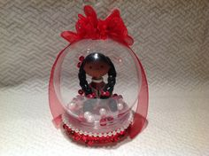 Cute polymer clay Delta globe doll sorority by NaomisSweetStuff