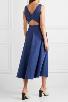 Saloni | Zoe cutout cotton-blend dress | NET-A-PORTER.COM