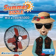 Enter the Summer sizzle cash giveaway for a chance to win a cool $5000: http://wongaapps.com/summersizzle/mobile  What's the first thing you would buy if you won?  Spread the word and good luck!  #winwithwonga
