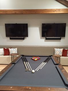 """Two 60"""" LG TV's with SONOS Playbars in Club House"""