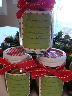 Christmas Potpourri recipe from Marci Coombs. (She gave me a jar and it made my whole house smell amazing!)