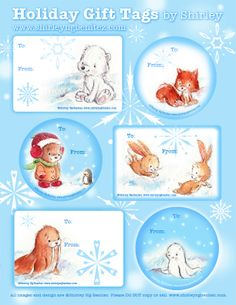 We Love to Illustrate - holiday gift tags