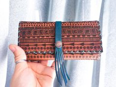 Boho Leather Tobacco Pouch with laser engraving Leather Tobacco Pouch, Leather Pouch, Small Quotes, Leather Dye, Wood Burning Art, Make A Gift, Leather Working, Laser Engraving, Pouches