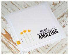 {Karte #9/2015} Clean & Simpel... mit dem Stempelset Painted Petals - Papers & Stamps| Mandy Grobosch