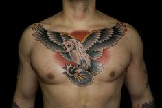 Chest tattoo by Myke Chambers