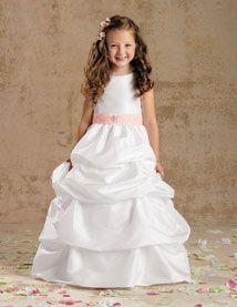 e0330e4101 JORDAN-SWEET BEGINNINGS - L968 - TUFTED W  BEADING Cute Flower Girl Dresses