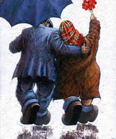 Alexander Millar -The Acorn Gallery - Beautiful and Unique Artwork Norman Cornish, Good Night Friends, Like Fine Wine, Old Couples, Watercolor Cards, Watercolor Painting, Flower Quotes, Figure Painting, Painting People