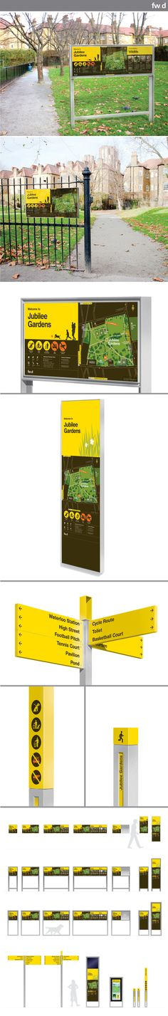 Modular, flexible and clean signage system designed for parks and green spaces.