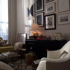 """A peek inside Jules's brownstone."" - nm | Nancy Meyers' behind-the-scenes instagrams on the set of The Intern, starring Robert De Niro and Anne Hathaway."