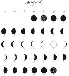 lunar calendar august 2012