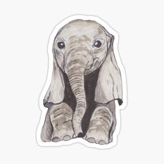 Pegatinas: Watercolour | Redbubble Stickers Cool, Bubble Stickers, Printable Stickers, Laptop Stickers, Homemade Stickers, Aesthetic Stickers, Baby Elephant, Sticker Design, Instagram