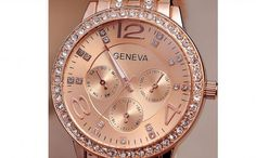 Ceas Geneva, la 59 RON in loc de 218 RON Vezi mai multe detalii pe Teamdeals.ro: Ceas Geneva, la 59 RON in loc de 218 RON Geneva, Rolex Watches, Accessories, Jewelry Accessories