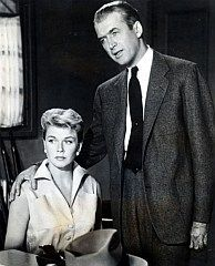"""""""The Man Who Knew Too Much"""" (1956) - Alfred Hitchcock. Starring James Stewart and Doris Day."""