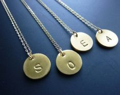 Initial Bar Necklace-Bar Initial by MomentusNY on Etsy