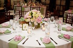 What a beautiful touch.. a peony on each place setting!