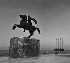 Equestrian statue of Alexander the Great at Thesaloniki. Greece