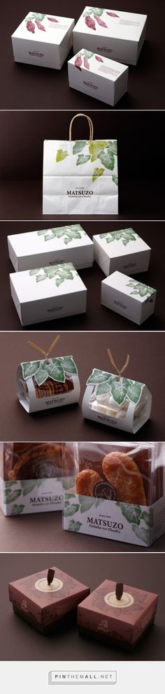 Graphic design, logo and packaging for MATSUZO Hatake no Okashi by AWATSUJI design curated by Packaging Diva PD. Pretty packaging that looks hand stamped.