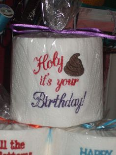 Embroidered Toilet Paper - $10 - free shipping!