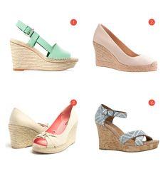 Des sandales à semelles compensées (en soldes!)
