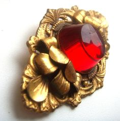 Deco brooch Europe by the huge 80mm cherry jelly от ODMIVINTAGE