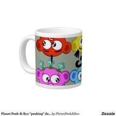 "Planet Peek-A-Boo ""peeking"" design Giant Coffee Mug"