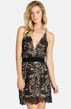 Women's Dress The Population Ava Lace Minidress