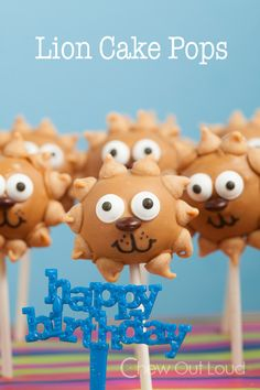 Lion Cake Pops - Peanut butter and Chocolate!