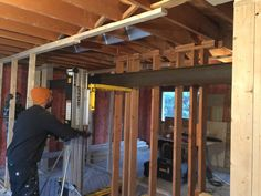 This is how to install a metal beam Full House, My House, Metal Beam, Construction Worker, Luxury Life, Calgary, Beams, Kitchens, Sweet Home