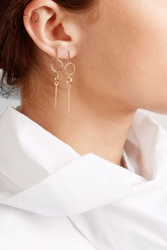 Butterfly fastening for pierced ears NET-A-PORTER.COM is a certified member of the Responsible Jewellery Council Imported