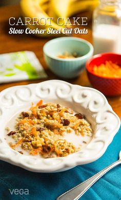 Just when you thought your mornings couldnt get any better, weve hit you with this recipe that will knock your socks offor on, since youll most likely just be crawling out of bed to enjoy these Slow Cooker Carrot Cake Oats.