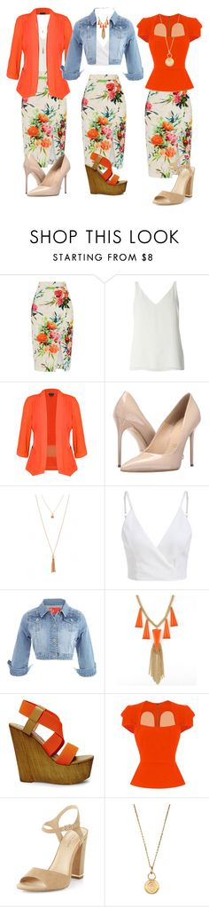 """Work, Casual, Date: 3 in 1 outfits"" by aharcaki ❤ liked on Polyvore featuring Oasis, Dorothy Perkins, City Chic, Massimo Matteo, Steve Madden, Roland Mouret, New Look and Aurélie Bidermann"