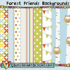 Forest Friends Backgrounds