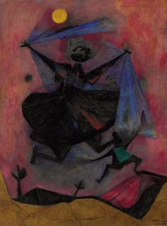 Artwork by Rufino Tamayo, Danza al sol, Made of oil and sand on canvas