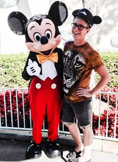 Caption This Pic of Tyler Oakley Meeting Mickey Mouse!