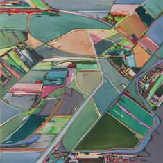 Contemporary abstract aerial paintings featuring aerial landscapes of farmlands and cityscapes highlighting the point where the urban and rural areas collide along with non-objective works on canvas using oils acrylic inks egg tempera and gouche on paper Words On Canvas, Oil On Canvas, Fall Crops, Cathedral School, Original Art, Original Paintings, A Level Art, Rural Area, Gcse Art