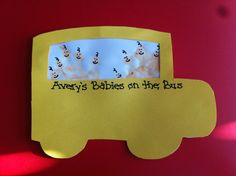 Baby handprint art my coteacher actually made these today! She's amazing! Babies on the bus! Baby Artwork, Baby Crafts, Infant Crafts, Fingerprint Art, Back To School Crafts, Footprint Art, Alphabet Print, Handprint Art, Projects For Kids