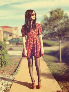 Shop this look on Kaleidoscope (dress, sunglasses, necklace, shoes) http://kalei.do/W4xDErCOpFdcqUmL