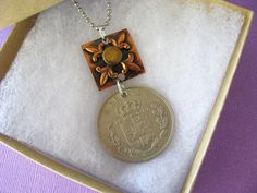 Denmark, Coin Jewelry, Kroner, Travel, Travel Jewelry, Coin Necklace, 1961 by LunaBirdJewelry on Etsy